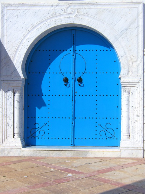 Door Beautiful Blue